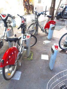 リヨンの自転車Vélo'v