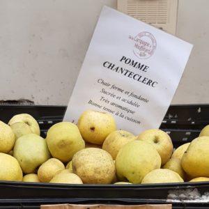 フランスのスーパーで買うりんごの品種pomme-chanteclerc