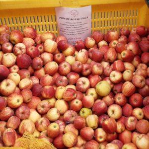 フランスのスーパーで買うりんごの品種Royal gala