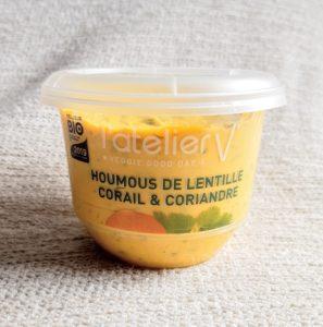 フランス産オーガニックの赤レンズ豆のフムス